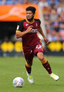 Bradford defender Nathaniel Knight-Percival is set to return to the Bradford line-up for Tuesday night's FA Cup second-round replay against Peterborough.