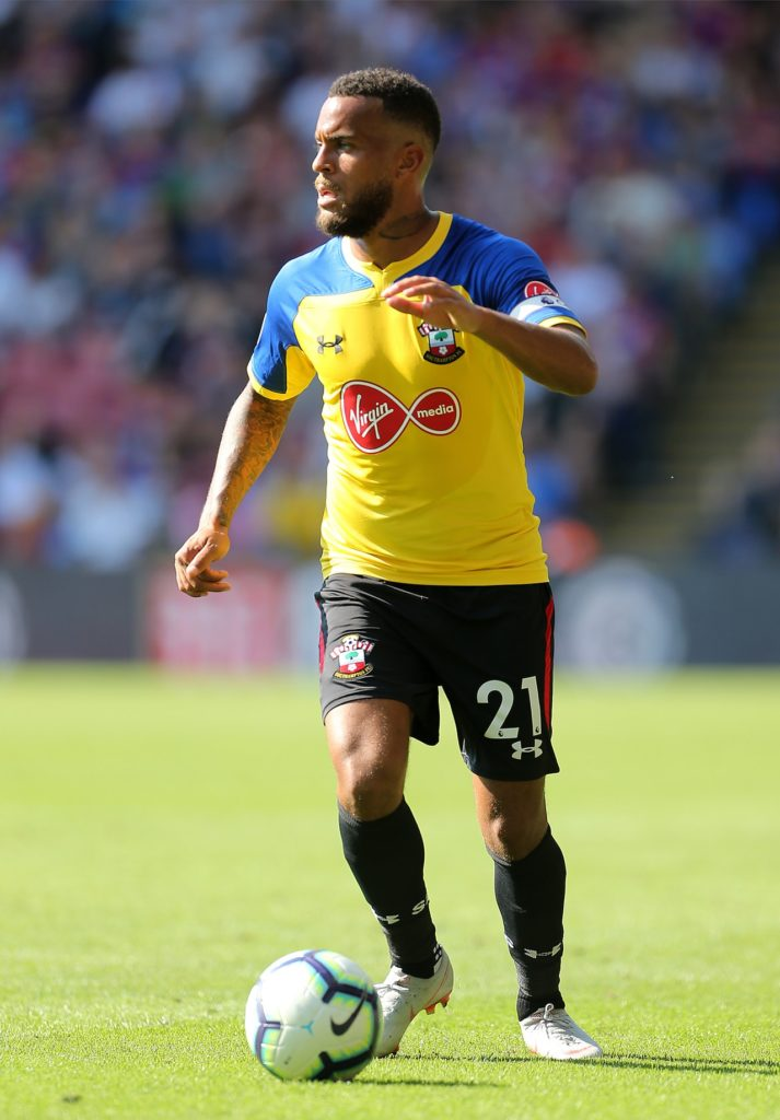 Southampton captain Ryan Bertrand has been rated as a doubt for Saturday's Premier League clash with Cardiff.