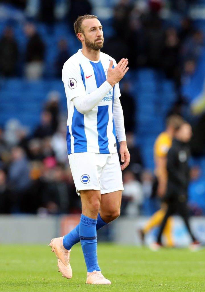 Chris Hughton has revealed Glenn Murray's shoulder injury is not as bad as first thought and he could feature for Brighton at Burnley.