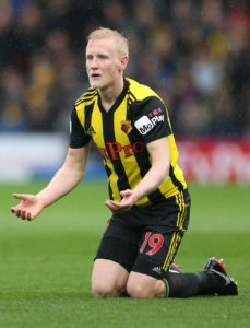 Watford midfielder Will Hughes is hoping to win his fitness race ahead of Monday's Premier League clash with Everton.