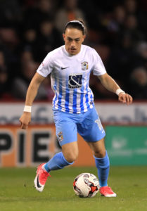 Coventry wingerJodi Jones is facing up to a year on the sidelines after suffering another serious knee injury.