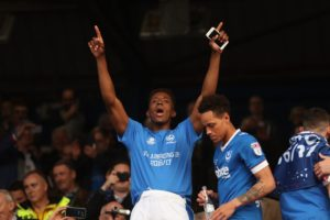 Leading scorer Jamal Lowe netted his eighth goal of the season to help fire League One leaders Portsmouth to a 2-0 win at home to Southend.