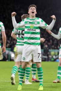 Mikey Johnston stepped up to the plate at Parkhead with a brace in Celtic's 3-0 Ladbrokes Premiership dismantling of bottom side Dundee.