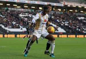 Junior Morias scored a dramatic stoppage-time equaliser as local rivals Northampton and MK Dons played out a thrilling 2-2 draw.