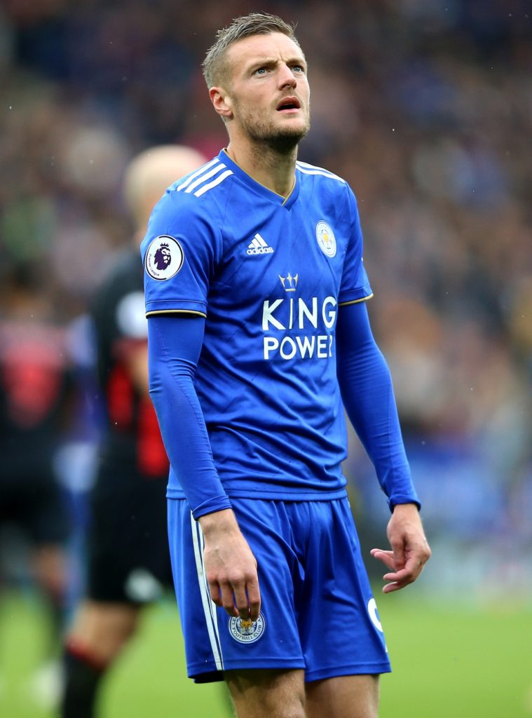 Leicester City will have to do without the services of star striker Jamie Vardy for the arrival of Tottenham on Saturday.
