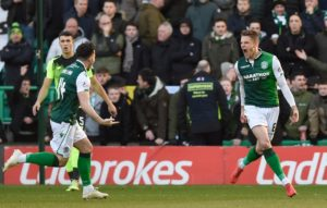 Hibernian put a dent in Celtic's Ladbrokes Premiership aspirations with a shock 2-0 win over the Hoops at Easter Road.