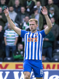 Kilmarnock climbed to the top of the Ladbrokes Premiership after a Greg Stewart first-half double saw off Livingston.