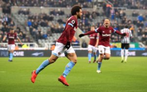 Felipe Anderson says the West Ham players are finally starting to see the rewards for the hard work they have put in during the season.