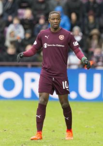 A controversial second-half penalty from St Johnstone winger Matthew Kennedy denied Hearts a first victory in seven games in a stormy tussle at McDiarmid Park.