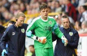 Burnley goalkeeper Nick Pope played in his first match since July after turning out for the club's under-23s on Monday.