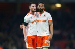 Jordan Thompson remains banned for Blackpool when they host Sunderland.