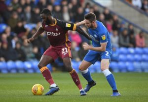Bradford pair Hope Akpan and Luca Colville are aiming to return to action in the home Sky Bet League One game against Accrington.