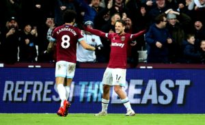 West Ham star Javier Hernandez admitted he is enjoying his football again after scoring his third goal in the space of a week.