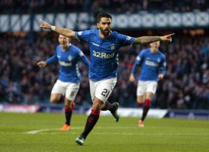 Rangers returned to the top of the Ladbrokes Premiership table as Daniel Candeias' early strike was enough to secure a 1-0 win over Hamilton at Ibrox.