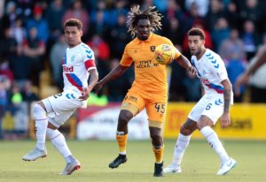 Livingston forward Dolly Menga returns from suspension for the Ladbrokes Premiership game at Kilmarnock.