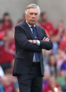 Napoli boss Carlo Ancelotti insists they won't change their attacking approach for Tuesday's Champions League clash with Liverpool.