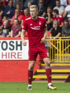 Sam Cosgrove was the hero as Aberdeen saw off St Mirren 2-1 to move up to fourth in the Ladbrokes Premiership.