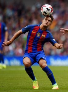 Chelsea are reported to be lining up a swoop for Barcelona midfielder Denis Suarez to replace Cesc Fabregas.