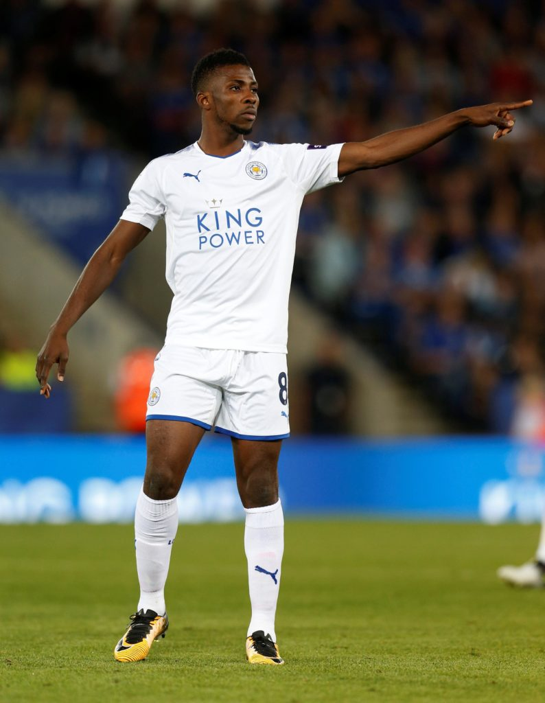 Kelechi Iheanacho says he's learning plenty from fellow forward Jamie Vardy at Leicester as he continues to develop.