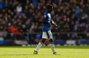 Everton midfielder Idrissa Gueye is a doubt for Saturday's early kick-off against Manchester City in the Premier League.