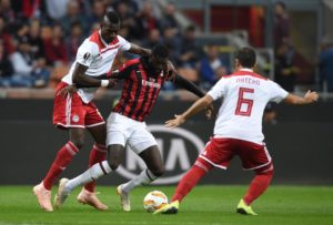 Tiemoue Bakayoko says he is happy at AC Milan although he remains unclear about his future beyond this season.