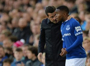 Ademola Lookman is in contention to make his first league start of the season when Everton host Newcastle in the Premier League.