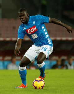 Old Trafford spies watched Napoli defender Kalidou Koulibaly in action against Liverpool on Tuesday night, according to senior club sources.
