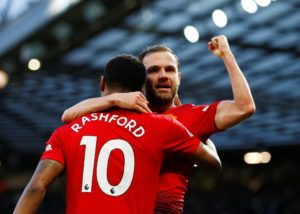 Jose Mourinho finally watched his Manchester United side find their scoring touch as they swept aside Fulham 4-1 at Old Trafford.