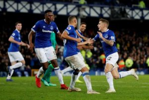 Lucas Digne's injury time free-kick snatched a point for Everton as they drew 2-2 against Watford at Goodison Park on Monday night.