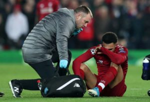 Trent Alexander-Arnold could miss Sunday's Premier League clash with Manchester United as he faces a scan on his injured foot.
