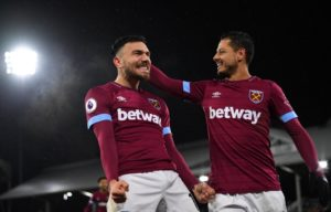 Robert Snodgrass and Michail Antonio were on target for West Ham as they eased to a 2-0 win over Fulham at Craven Cottage.