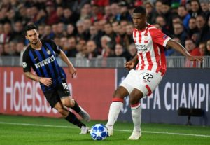 Denzel Dumfries is looking to find the net more for PSV Eindhoven after scoring in the 4-0 Eredivisie romp at Heracles Almelo.
