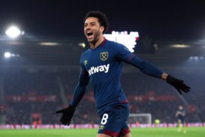 Felipe Anderson scored a brace as West Ham came from behind to defeat Southampton 2-1 at St Mary's on Thursday evening.