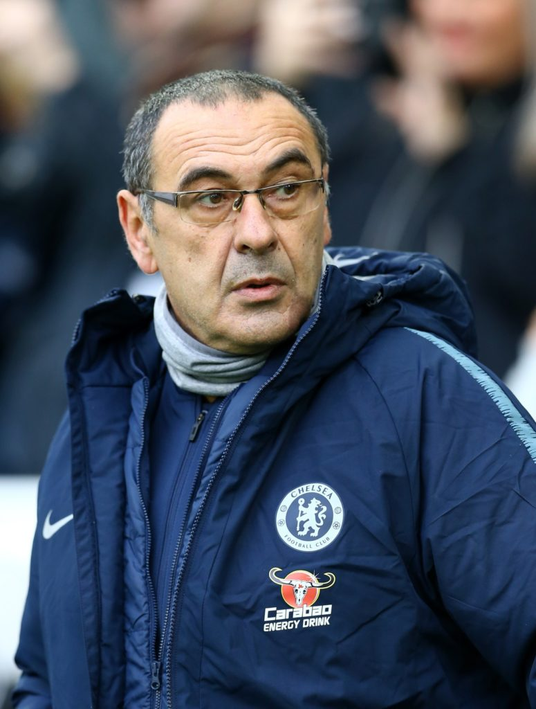 Maurizio Sarri says his Chelsea side could beat Gareth Southgate's England team, even though he has not had enough time with the team.