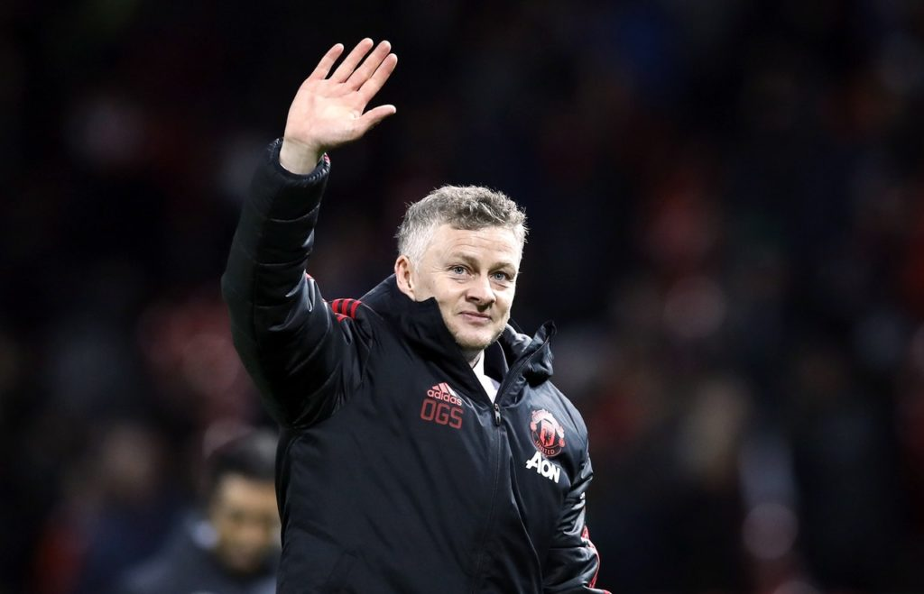 Ole Gunnar Solskjaer is aiming for win number six on Sunday when Manchester United travel to Wembley to take on Tottenham.