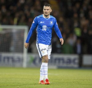 St Johnstone striker Tony Watt was targeted by a pie thrown by a disgruntled Hamilton fan after scoring in his side's 2-0 win in the William Hill Scottish Cup.
