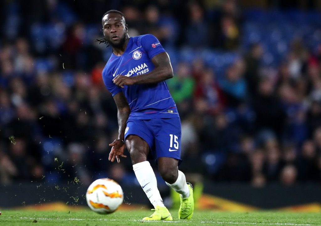Defender Victor Moses has left Chelsea for Fenerbahce on a one-and-a-half-year loan deal.