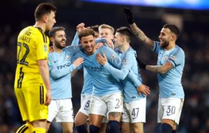 Manchester City need only a three-goal win in their Carabao Cup semi-final second leg against Burton to make history.
