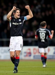 Darren O'Dea returns from suspension for Dundee's Ladbrokes Premiership clash with Motherwell at Dens Park on Saturday.