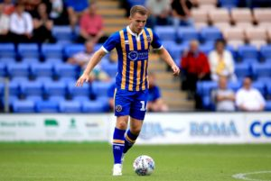 Portsmouth have completed the signing of midfielder Bryn Morris from fellow League One side Shrewsbury.