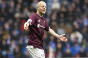 Steven Naismith returns from suspension for Hearts for the visit of St Johnstone.