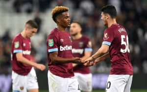 Manuel Pellegrini has warned West Ham's young stars Declan Rice and Grady Diangana they have not arrived in the big time yet.