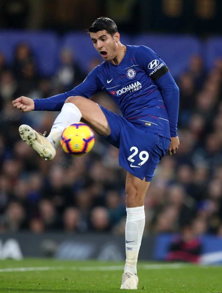 Chelsea boss Maurizio Sarri could be without striker Alvaro Morata for Saturday's clash with Newcastle United at Stamford Bridge.