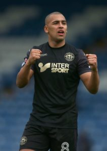 Portsmouth have signed James Vaughan on loan from Wigan for the remainder of the season.
