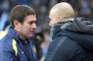 Scott Fraser and Jamie Allen are doubts for Burton ahead of their Carabao Cup semi-final second leg against holders Manchester City.