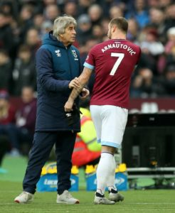 Manuel Pellegrini admitted Marko Arnautovic was 'angry' at being substituted during West Ham's 2-0 FA Cup win over Birmingham.