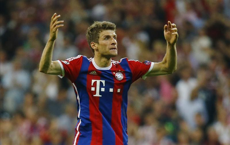 Bayern Munich forward Thomas Muller is set to miss both legs of his club's Champions League last-16 tie against Liverpool.