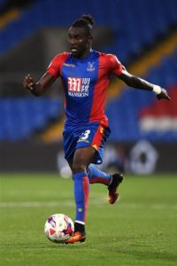 Crystal Palace have confirmed Pape Souare has had a successful operation on his dislocated shoulder but will be out for two months.