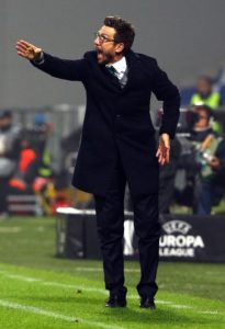 Roma boss Eusebio Di Francesco insists he hasn't thought about walking away after Wednesday's heavy loss to Fiorentina.