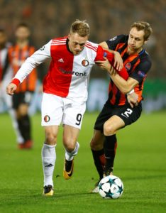 Nicolai Jorgensen insists he is happy at Feyenoord after failing to secure a switch to Newcastle last season.